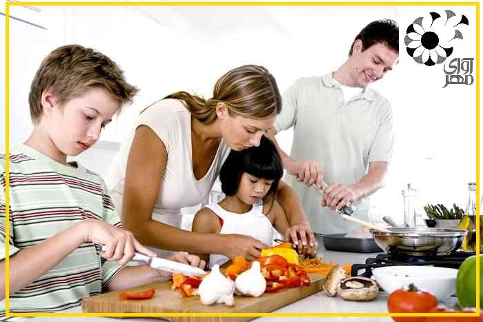 افزایش روحیه مسئولیت پذیری و صمیمیت در خانواده